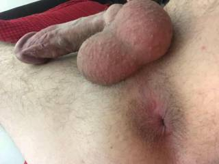 My dick and my tight little hole.