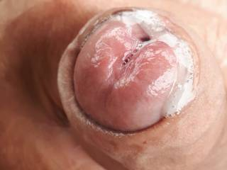 Loads of sticky yummy pre cum, love to have your tongue 👅 lick n taste my hot creamy delicious pre cum mmmmmmm, who would like to take a lick? Love to hear your filthy comments xx