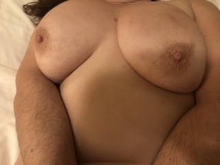 Great shot taken by a friend. It was about time I added a more recent pic of my boobies  on here don't you think?