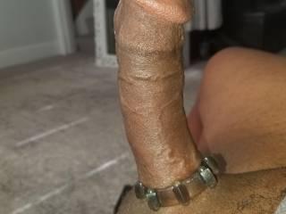 Cock ring + morning wood = rock hard BBC