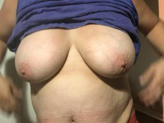 wanna fuck these big tits and her cum belly..