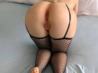 My owner told me to arch my back and show off my little pussy and asshole for you guys. I hope you like it! xoxo