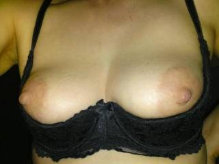 Yummy, wish I could rub some of your pussy juice all over the nipples and suck it all off them, your boobs are fantastic ..... Princess xx