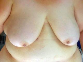 Who wants to put some cum on these nice big tits?