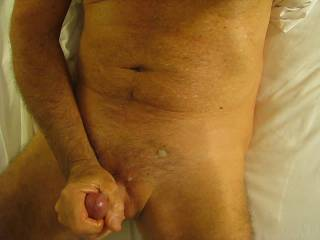 I'd love to give him some help. Nice load of cum that needs drinking down.