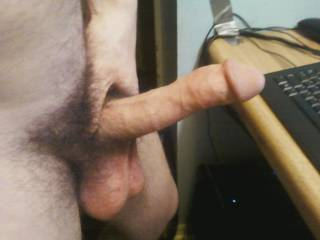 It is a very cock and balls...so very suckable and my tight virgin ass really wants to feel you balls deep cumming inside me...make me cum with out touching my cock.