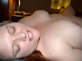 So hot! Love to slip my cock in her mouth and let her suck me until i'm ready to spurt over those gorgeous tits