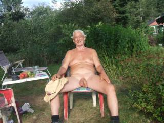 I garden nude at my cabin  and entertain my nudist bi and gay friends