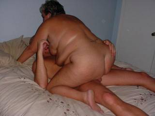 That is hot. She needs another cock in her ass and one in her mouth.