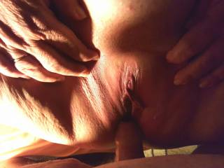 Just fucking wifes thick pussy.