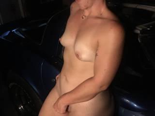 My friend in my garage on my vette