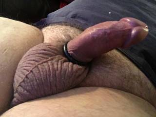 Just a pick of my husbands cock with a ring and his sculpted balls...