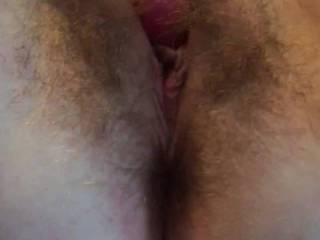 Watch me play with my hairy pussy.
