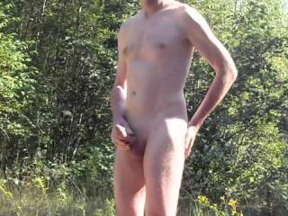 Hot days are finally here! I love to naked outside and to feel the sun on my body....every part of my body.... ;-)