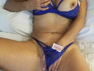 Enjoying my new lingerie while I\'m waiting for Eric to cum home. Am I making you hard or wet? 💋