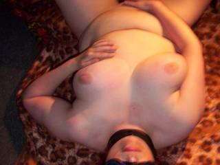 my ex-slave, horny and touching herself while waiting for me
