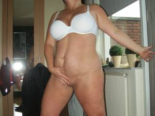 Show us some more...she look sexy, love her big tits and very fuckable pussy..