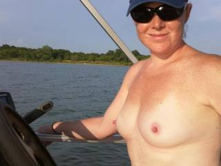 Just hanging out on the boat and I figured it was the perfect time to get naked.