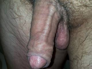 Mmmm, I love the looks of your sexy thick cock...its so sexy. I'd enjoy sucking on that cock while holding your balls.  This cock picture makes me wet.  Oooooooooo, I want to touch it and myself.  MILF K