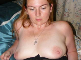 I just love your tits hon!  Yes, I would LOVE to suck on those gorgeous nipples!