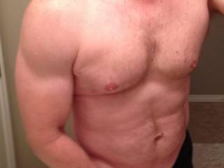 Beautiful manly body it makes my cock throb