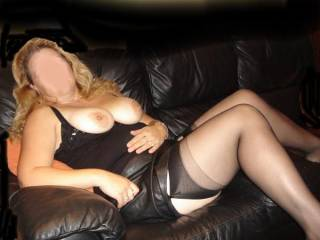 Don't you mean , another sexy as fuck pic of me in my stockings ,with my pert nipples on show ,fuck  you are gorgeous x