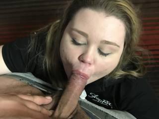 Slut friend sucking my cock at a motel