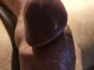 My tight cock head. I need a tongue on it!