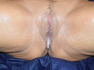 My used pussy after a good fucking.