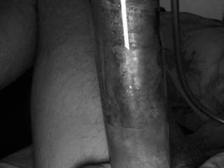 Making Hubby pump his already huge dick. May need some help eating him after this. Any takers??