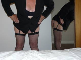 Dressing up for another night out at the pub, pool night tonight. All in black to match the last ball.