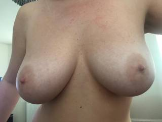 My girls perfect titties, comment if you like them