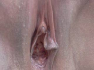 Damn!  I want to lick it...finger it....fuck it...then lick it some more!!! Love how her clit sticks out from her covering!!!