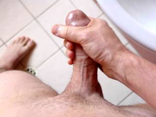 my cock in the bathroom