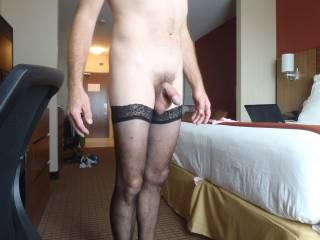 Alone in Calgary hotel getting dressed