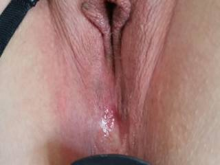 I want to feel your wet pussy wrapped around my cock along with the butt plug