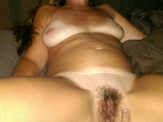 Hopefully it was more than fingering something like a huge hard fuck, deep then a huge load deep inside that wonderful hairy pussy