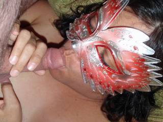 Hubby started oozing pre-cum...so I sucked it up like a good wife!