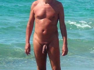 On a naturst beach in Almeria