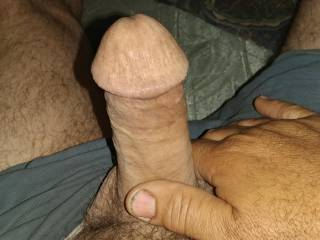 My cock out of my pants starting to get big hard and thick
