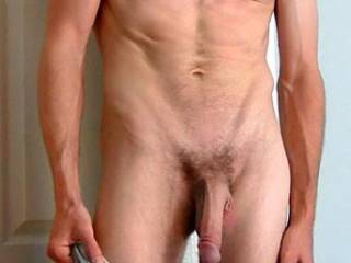 beautiful,beautiful long,thick hanging purple headed cock!!! just want to swallow down on that sausage!!!