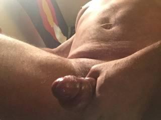 Big cock pumped up after using my homemade penis pump