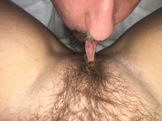 Love sucking on her pussy lips...