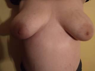 My friend flashing her tits