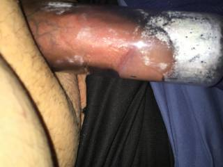 Pumping my cock while wearing my butt plug