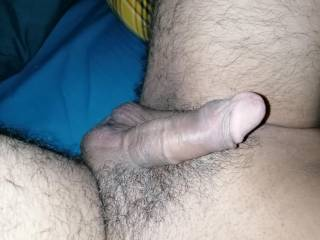 Presenting fresh shaved cock to my cock lovers