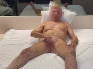 Mr. F, having a little fun with his cock just before fucking me. From Mrs. Floridaman
