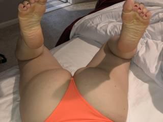 New orange bikini bottoms