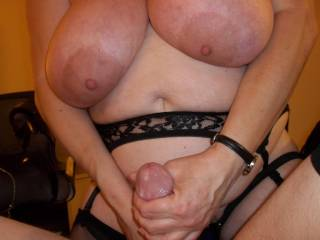 You fuck Mr. Wineguy like that as i suck your nipples and your man fucks me from behind!!