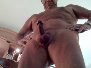 Lovely fat cock and big balls, the Mr